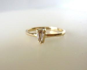 シャンパンカラーダイヤとK14の指輪