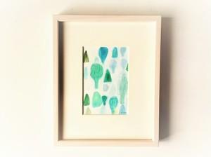 「満ちてゆく季節、森の中で」 イラスト原画/額縁入り