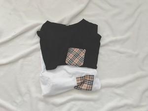 BチェックTシャツ[即納]