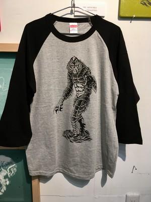″半魚人″ ラグランスリーブTシャツ