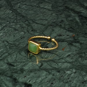 SINGLE MINI STONE RING GOLD 046