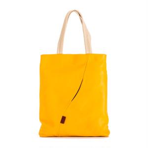 【袋果ドキュメントバッグ / イエロー × ネイビー-】書類の持ち歩きに