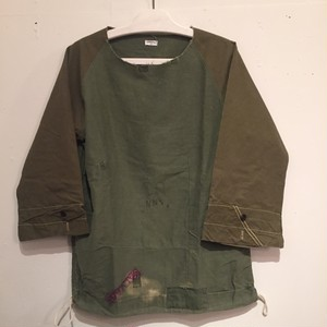 【OLD PARK】LAUNDRY SHIRT MILITARY OP-122 (No.650002)