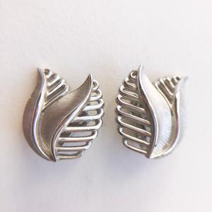 """""""Trifari"""" silver leaf earring[e-1324] ヴィンテージイヤリング"""