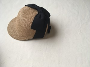 ribbon straw cap