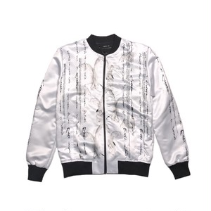 ILL IT - FACELESS BOMBER JACKET (WHITE) -