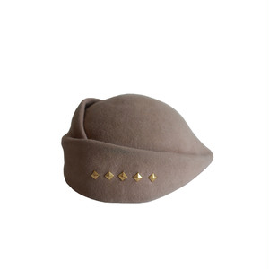 hntbk RRFW1931 fur felt Draped beret(BEIGE)