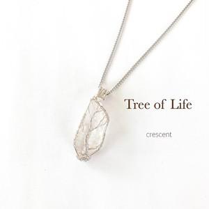 ワイヤーアートネックレス(生命の樹/tree of life)