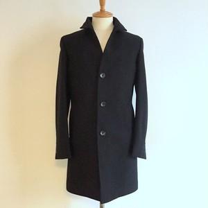 Cashmere Blended Stand Collar Coat Black