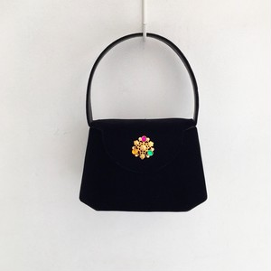 Vintage velours color stone vanity hand bag
