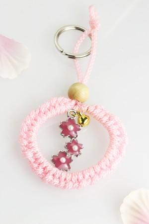 2021年お祝いの合格ストラップ【ご縁】桜ピンクの3連タイプ