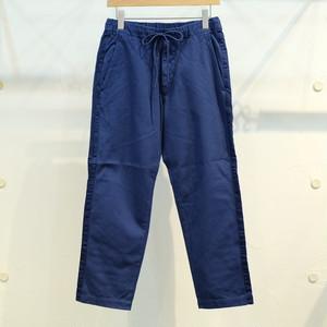 KUON(クオン) サイドテープ 刺し子イージーパンツ ブルー