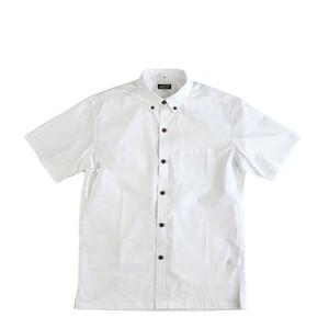Mountain Men's ボタンダウン ホワイトアロハシャツ / TAPA