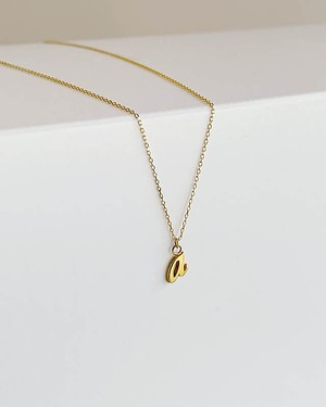 "K18 initial  "" a ""  necklace  /  Belleza by n"