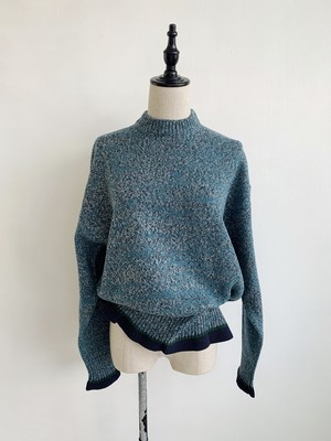 EARIH  MIX TWEED KNIT PULLOVER