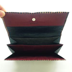 和紙の三つ折り財布(赤丁子)
