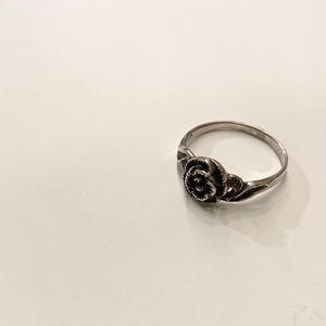 FRANCE vintage silver ring -FLOWER- (I)