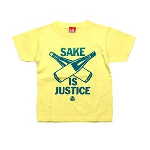 【KIDS SAKE Tシャツ】SAKE IS JUSTICE / カナリアイエロー