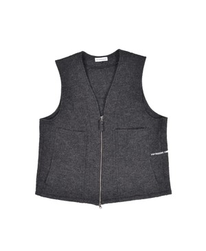 POP TRADING COMPANY WIZARD VEST BOILED WOOL