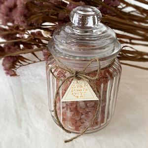 【Last1個!!】Original Aroma Bath Salt YOH:ヒマラヤ岩塩ローズソルト(ガラスジャー入り)