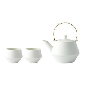 Frustum土瓶&煎茶 白釉 [SET]