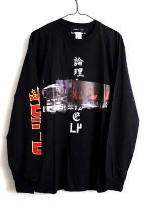 LONELY論理#9 DECO TORA ROAD LONG SLEEVE / BLACK