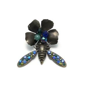 VOGLINE 昆虫ブローチ green×blue