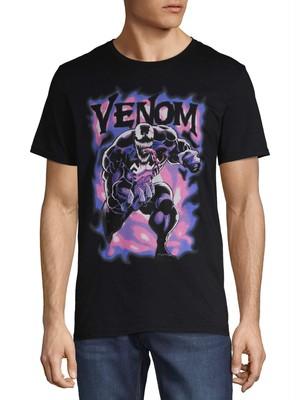 マーベル ヴェノム パープル・スモーク グラフィック Tシャツ