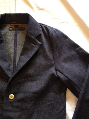Wool Nel Chambray 4B Jacket(Re made in tokyo japan)