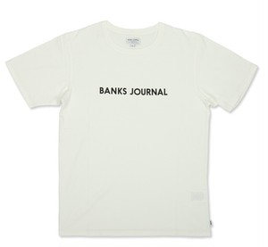 BANKS JOURNAL (バンクスジャーナル) LABEL STAPLE  Tシャツ ATS0369  OFF WHITE