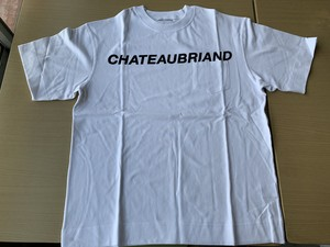 NEW CHATEAUBRIAND LOGO Tシャツ白【送料込】