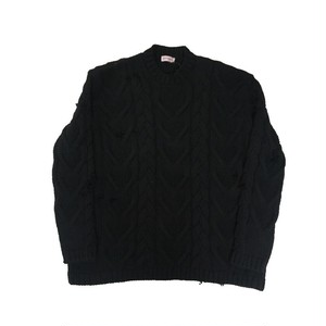 PALM ANGELS DESTROYED FISHERMAN KNIT