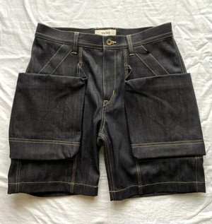 第十弾『TROVE×岡部文彦氏×GEAR HOLIC』 BIG POCKET SHORTS ( BASIC SILHOUETTE DENIM ) # INDIGO