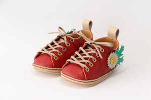 """first shoes """"HELLO"""" ( red + flowers )"""