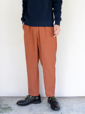 weac.(ウィーク) Easy Fatigue Pants【BRICK】 Unisex Item