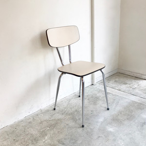 """Brabantia"" Vintage Kitchen Chair / IVORY  60's オランダ"