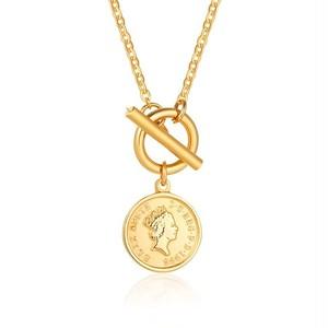 316L Elizabeth Coin Toggle Necklace