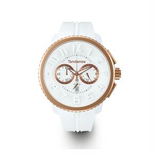 【Tendence テンデンス】TG046014 GULLIVERガリバー(ホワイト×ローズゴールド)/国内正規品 腕時計