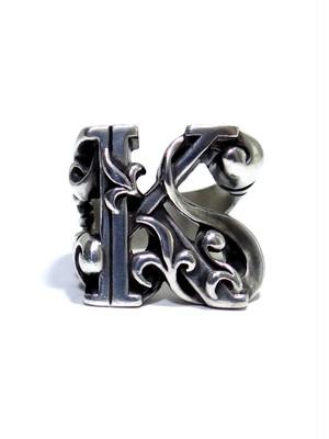 alphabet ring#K (silver925) - アルファベットモチーフ リングK-