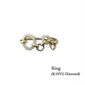 jewelG <Hoop> ダイヤモンド リング K18YG