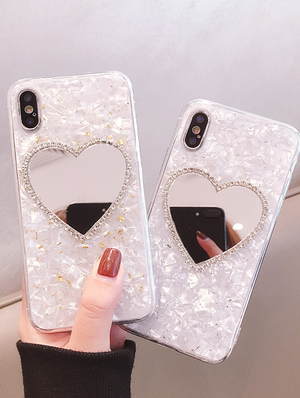 Heart mirror iPhone case(X/XS)