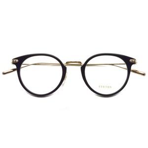 EYEVAN アイヴァン / CHRISSIE-R / PBK ブラック-ゴールド メガネ コンビネーションフレーム