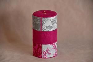 【カルトナージュ】フランス製マリーアントワネット使用 3段のジュエリーケース ピンク