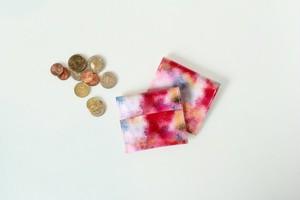 赤い霧と、ピンク色の空のコインケース|受注制作