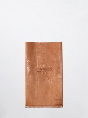 MAISON EUREKA RECYCLE LEATHER GROCERY BAG Brown 279