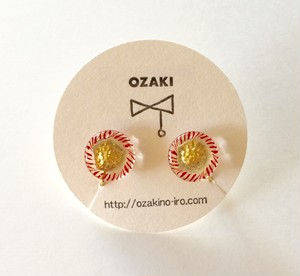 OZAKI ボタンひとつぶイヤリング1