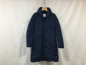 "Women's NANGA "" SHAWL COLLAR DOWN COAT "" NAVY"