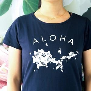 オオシマアロハTシャツ/ネイビー