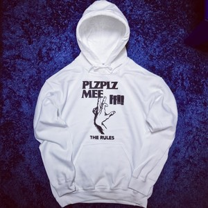 THE RULES HOODIE WHITE