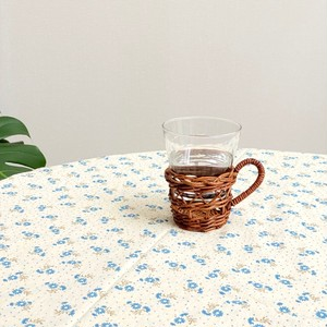 rattan cup holder & drinking glass / ラタン コップホルダー 韓国 北欧